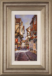 Gordon Lees, Original oil painting on panel, The Shambles, York