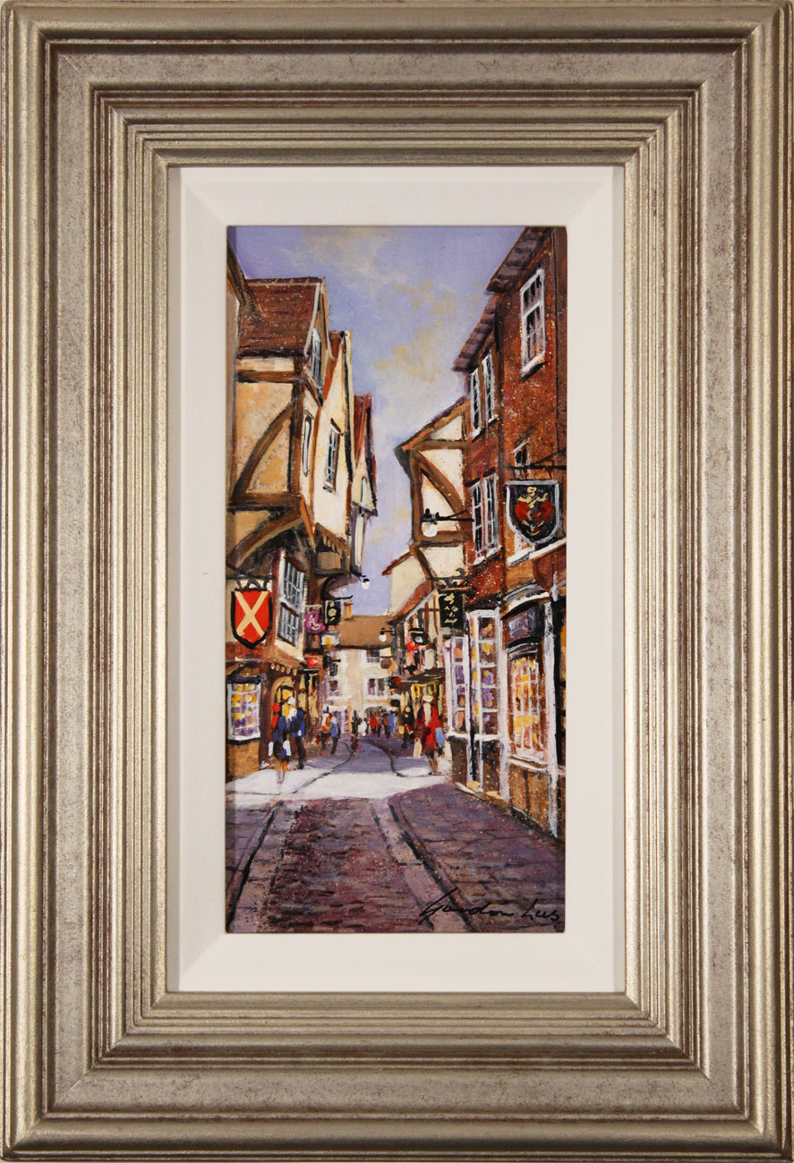Gordon Lees, Original oil painting on panel, The Shambles, York. Click to enlarge