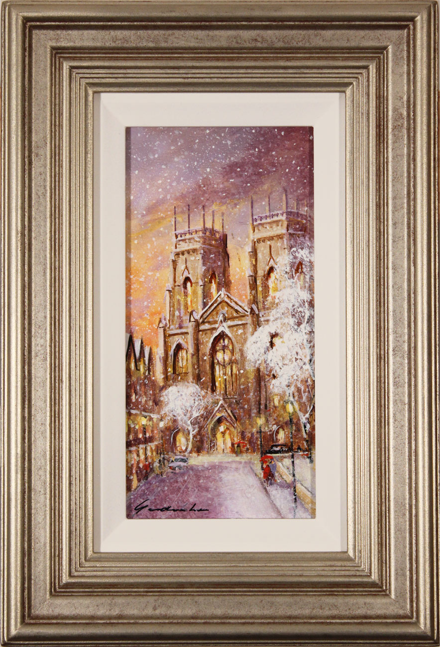 Gordon Lees, Original oil painting on panel, York Minster. Click to enlarge