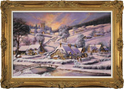 Gordon Lees, Original oil painting on panel, A Winter's Eve Large image. Click to enlarge