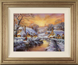 Gordon Lees, Original oil painting on panel, Freshly Fallen Snow, The Cotswolds