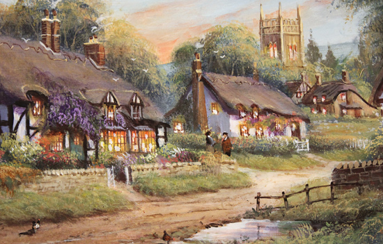 Gordon Lees, Original oil painting on panel, Summer Evensong Signature image. Click to enlarge