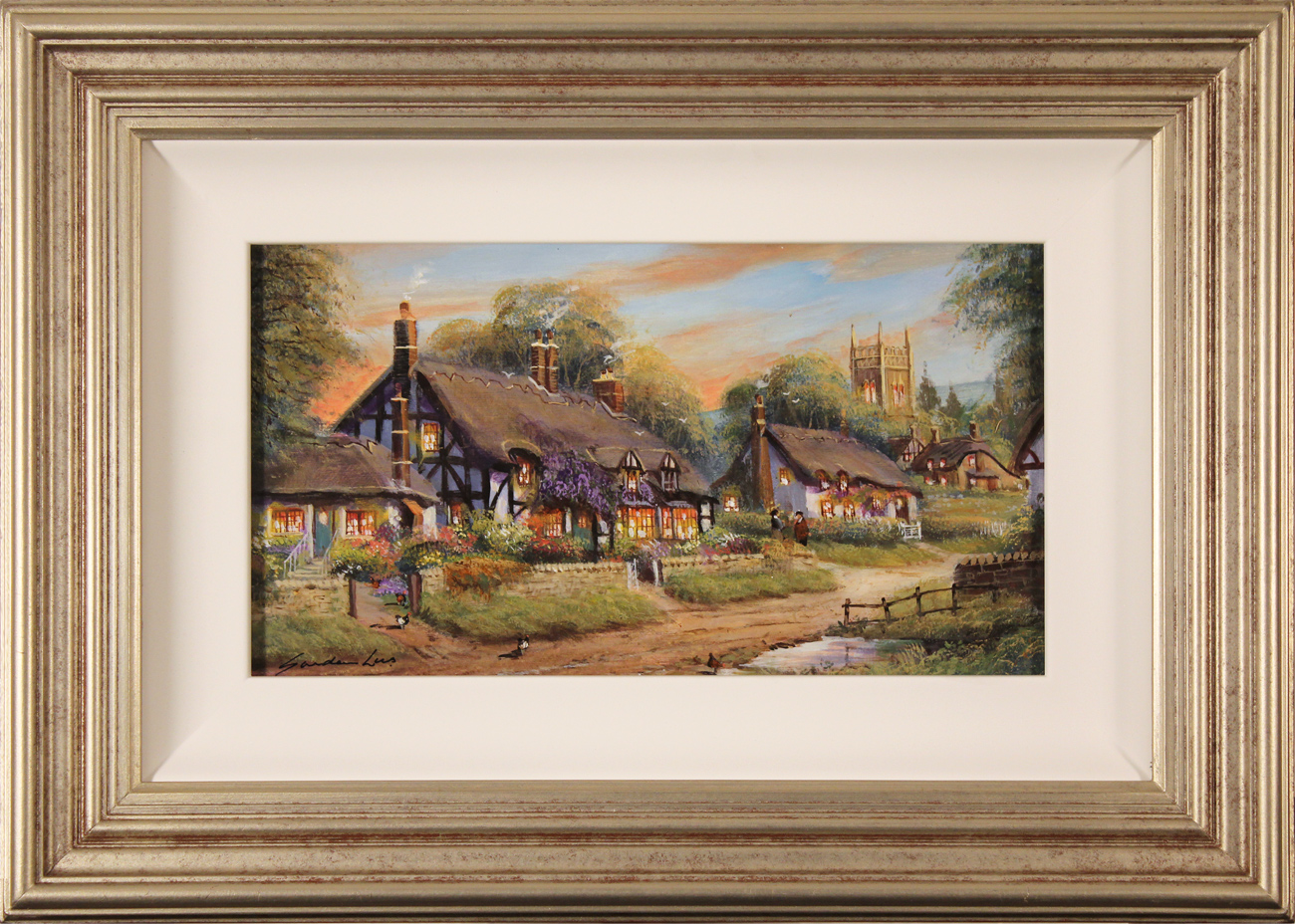 Gordon Lees, Original oil painting on panel, Summer Evensong, click to enlarge