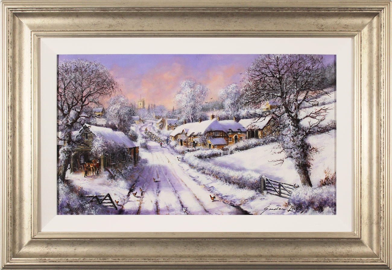Gordon Lees, Original oil painting on canvas, Fading Light of a Winter's Eve, click to enlarge