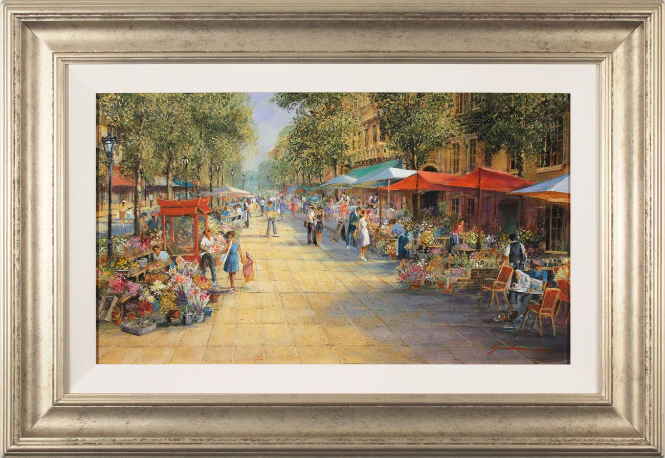 Gordon Lees, Original oil painting on panel, Parisian Boulevard, click to enlarge