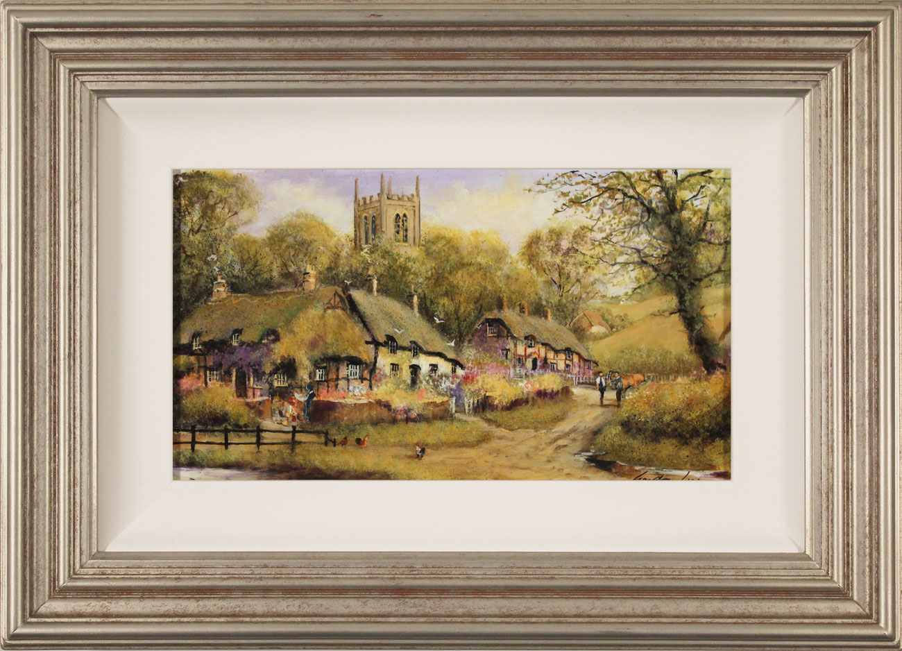 Gordon Lees, Original oil painting on panel, A Summer Evensong, click to enlarge