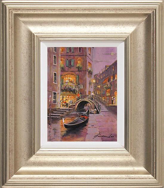 Gordon Lees, Original oil painting on panel, Venetian Twilight
