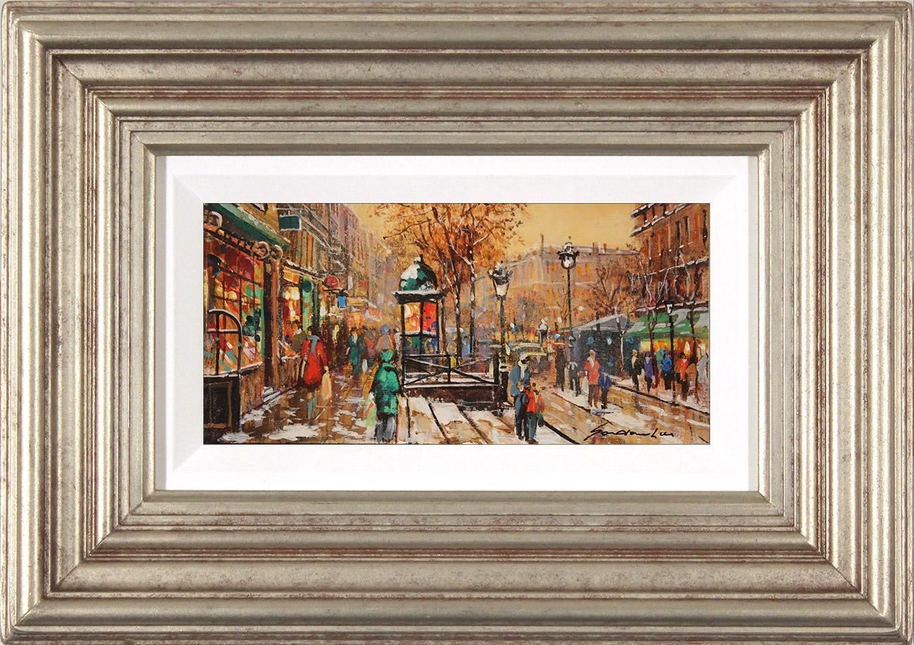 Gordon Lees, Original oil painting on panel, Wintry Promenade , click to enlarge