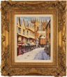 Gordon Lees, Original oil painting on panel, Low Petergate in Snow, York