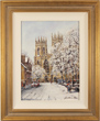 Gordon Lees, Original oil painting on panel, Snow on York Minster