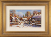 Gordon Lees, Original oil painting on panel, Bright Winter Morning, The Cotswolds