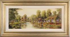 Gordon Lees, Original oil painting on panel, A River Idyll