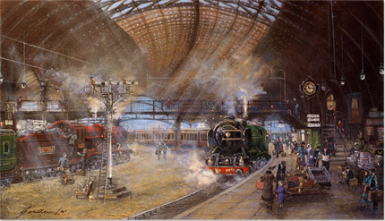Gordon Lees, Signed limited edition print, York Railway Station