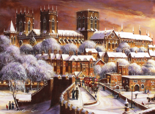 Gordon Lees, Signed limited edition print, Lendal Bridge, York Signature image. Click to enlarge