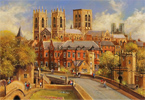 Gordon Lees, Original oil on canvas, York Minster From The City Walls