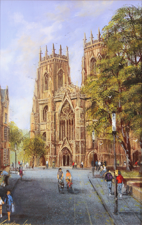 Gordon Lees, Original oil painting on panel, Blue Skies over York