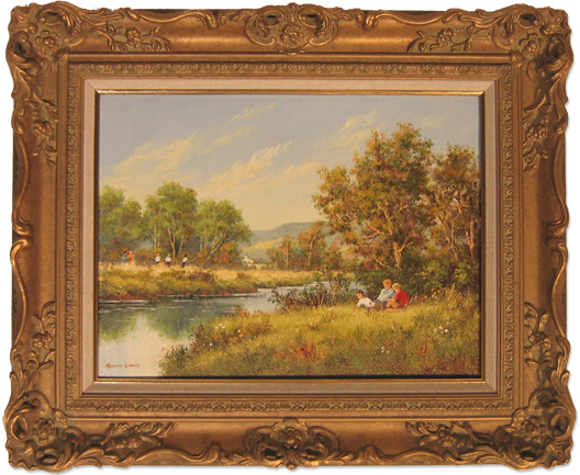 Gordon Lindsay, Original oil painting on canvas, Untitled. Click to enlarge
