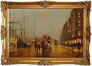 Graham Isom, Original oil painting on canvas, Princess Dock, Hull Large image. Click to enlarge