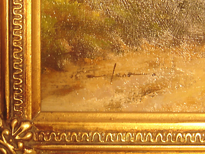 Graham Isom, Original oil painting on canvas, Horse and Cart Signature image. Click to enlarge