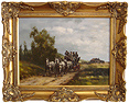 Graham Isom, Original oil painting on canvas, Horse and Cart Large image. Click to enlarge