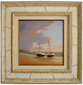 Graham Petley, Original oil painting on panel, Boats on Shore Large image. Click to enlarge