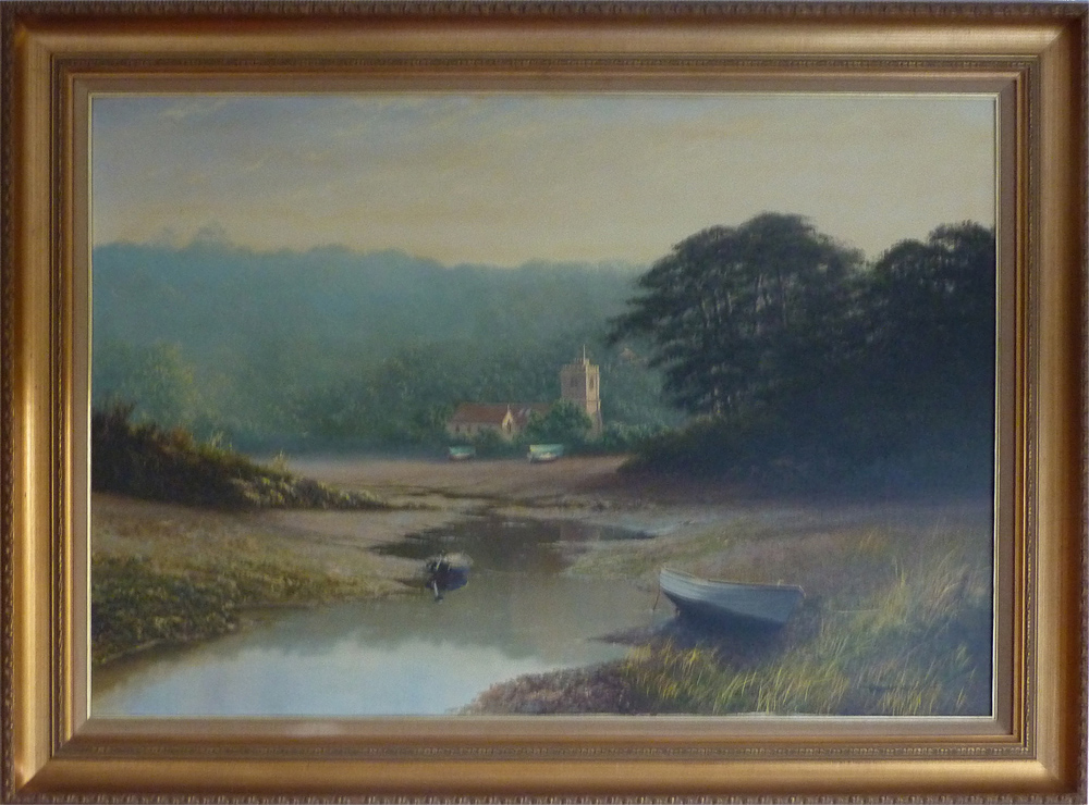 Graham Petley, Oil on canvas, 'Tide Out' St Just, Roseland. Click to enlarge