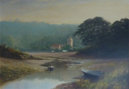 Graham Petley, Oil on canvas, 'Tide Out' St Just, Roseland Without frame image. Click to enlarge