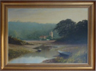 Graham Petley, Oil on canvas, 'Tide Out' St Just, Roseland Large image. Click to enlarge