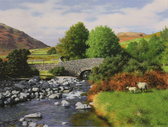 Howard Shingler, Overbeck Bridge, Wastwater, Original oil painting on panel