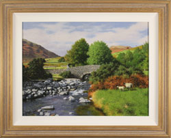 Howard Shingler, Original oil painting on panel, Overbeck Bridge, Wastwater Large image. Click to enlarge