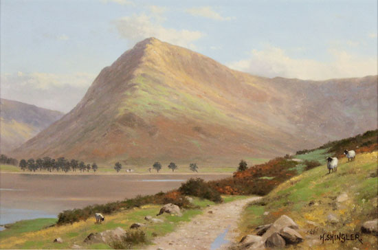 Howard Shingler, Original oil painting on panel, Fleetwith Pike, Buttermere Without frame image. Click to enlarge