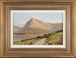 Howard Shingler, Original oil painting on panel, Fleetwith Pike, Buttermere Large image. Click to enlarge