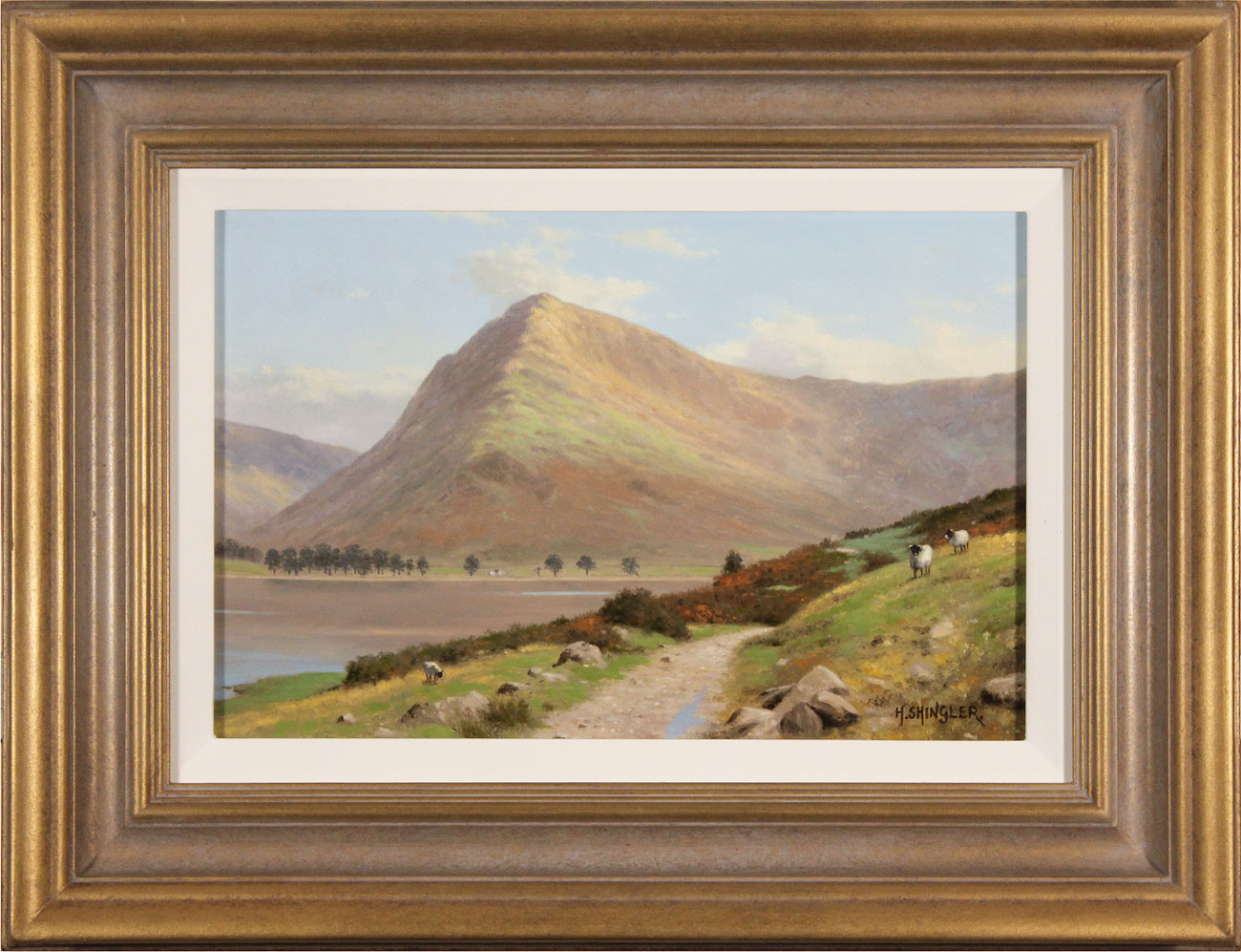 Howard Shingler, Original oil painting on panel, Fleetwith Pike, Buttermere. Click to enlarge