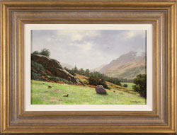 Howard Shingler, Original oil painting on panel, Towards Patterdale from Blowick, Ullswater Large image. Click to enlarge