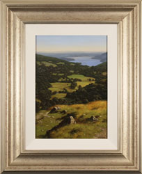 Howard Shingler, Windermere from Nab Scar, Original oil painting on canvas