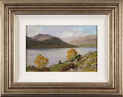 Howard Shingler, Original oil painting on panel, Sheffield Pike from Silver Point, Ullswater Large image. Click to enlarge