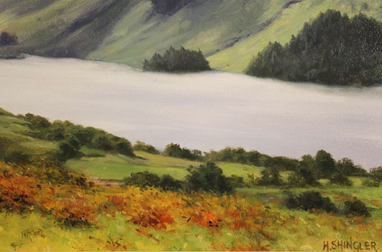 Howard Shingler, Original oil painting on panel, Buttermere from Hassness