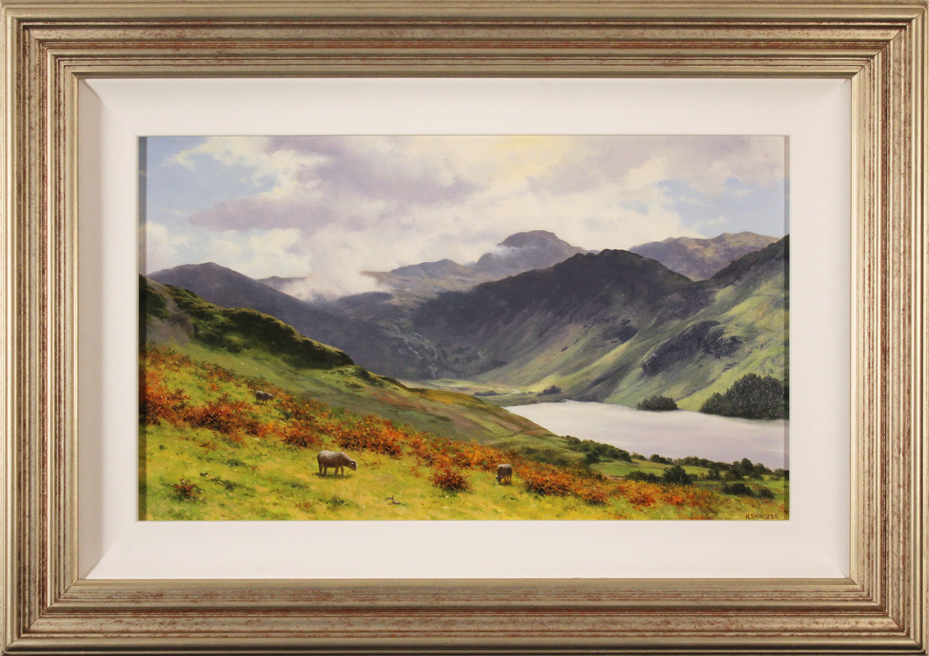 Howard Shingler, Original oil painting on panel, Buttermere from Hassness. Click to enlarge