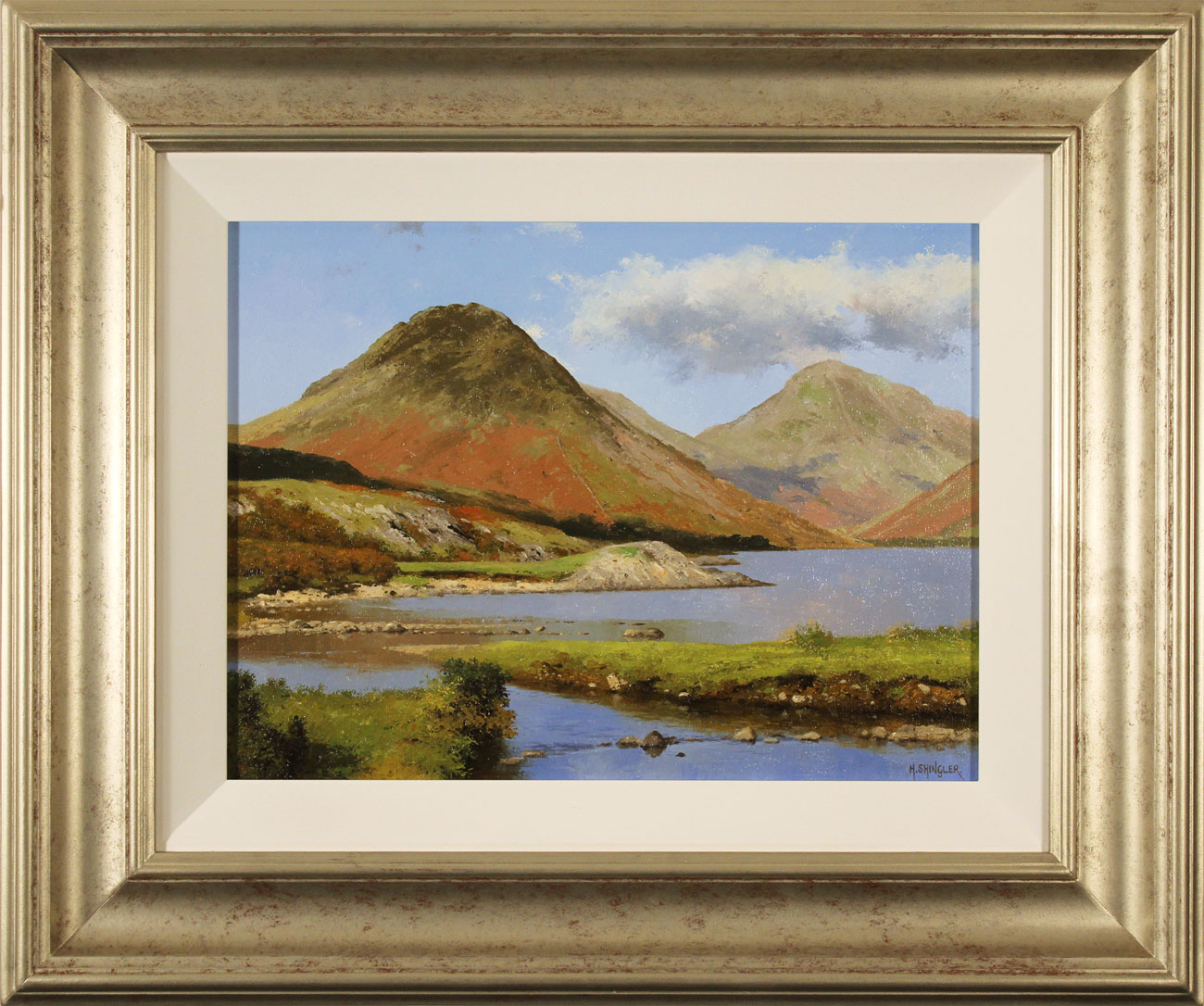 Howard Shingler, Original oil painting on panel, Yewbarrow from Wastwater, click to enlarge