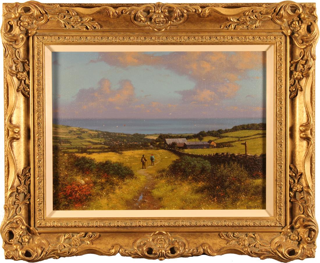 Howard Shingler, Original oil painting on canvas, Robin Hood's Bay, click to enlarge