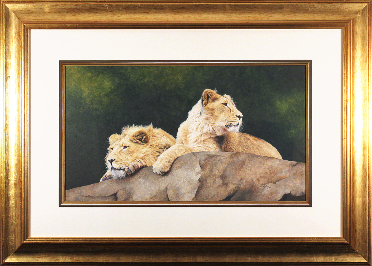 Jacqueline Gaylard, SOFA, Original acrylic painting on board, On the Lookout, click to enlarge