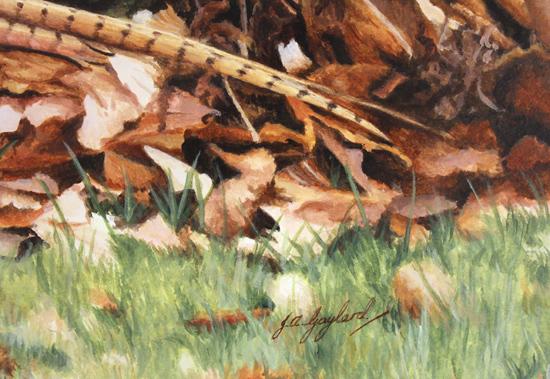 Jacqueline Gaylard, SOFA, Original acrylic painting on board, Autumn Days Signature image. Click to enlarge
