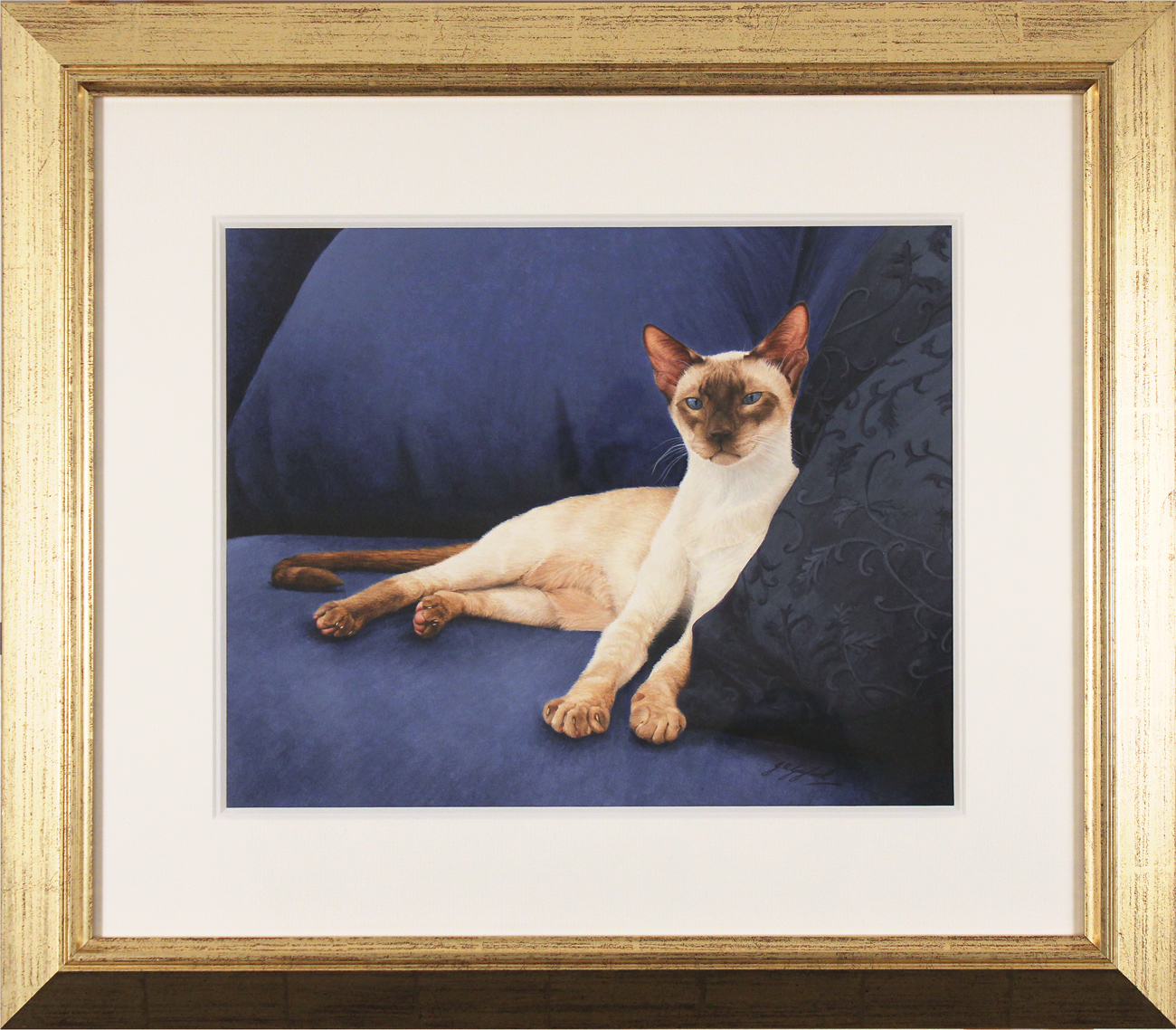 Jacqueline Gaylard, SOFA, Original acrylic painting on board, Sapphire, click to enlarge