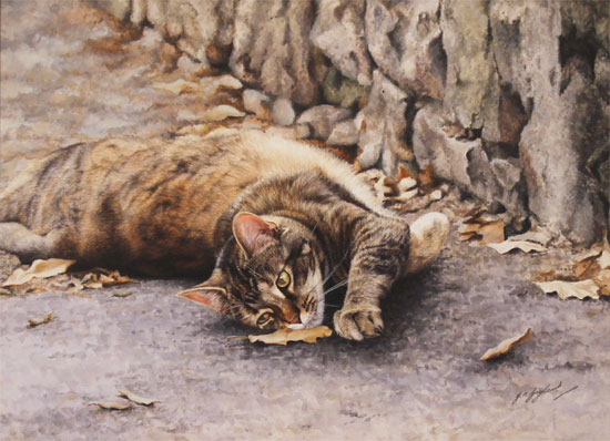 Jacqueline Gaylard, SOFA, Original acrylic painting on board, Penny's Lane No frame image. Click to enlarge