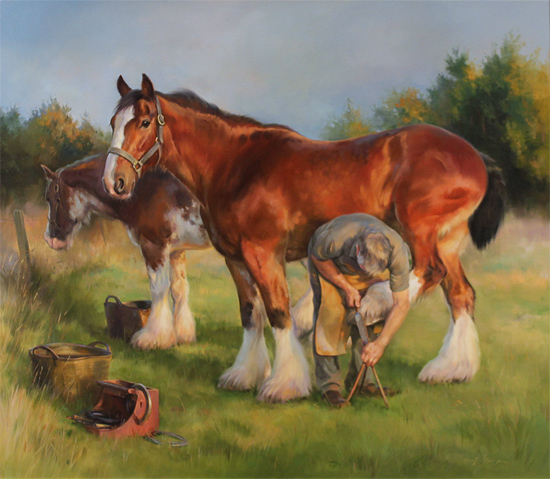 Jacqueline Stanhope, Original oil painting on canvas, The Farrier Without frame image. Click to enlarge