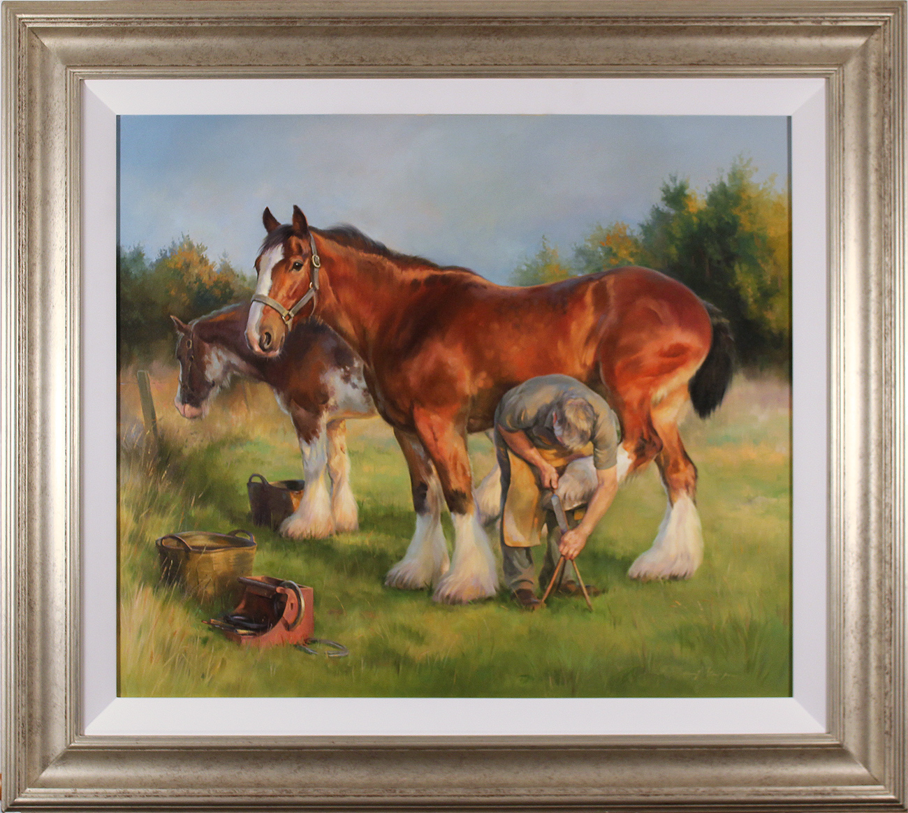 Jacqueline Stanhope, Original oil painting on canvas, The Farrier. Click to enlarge