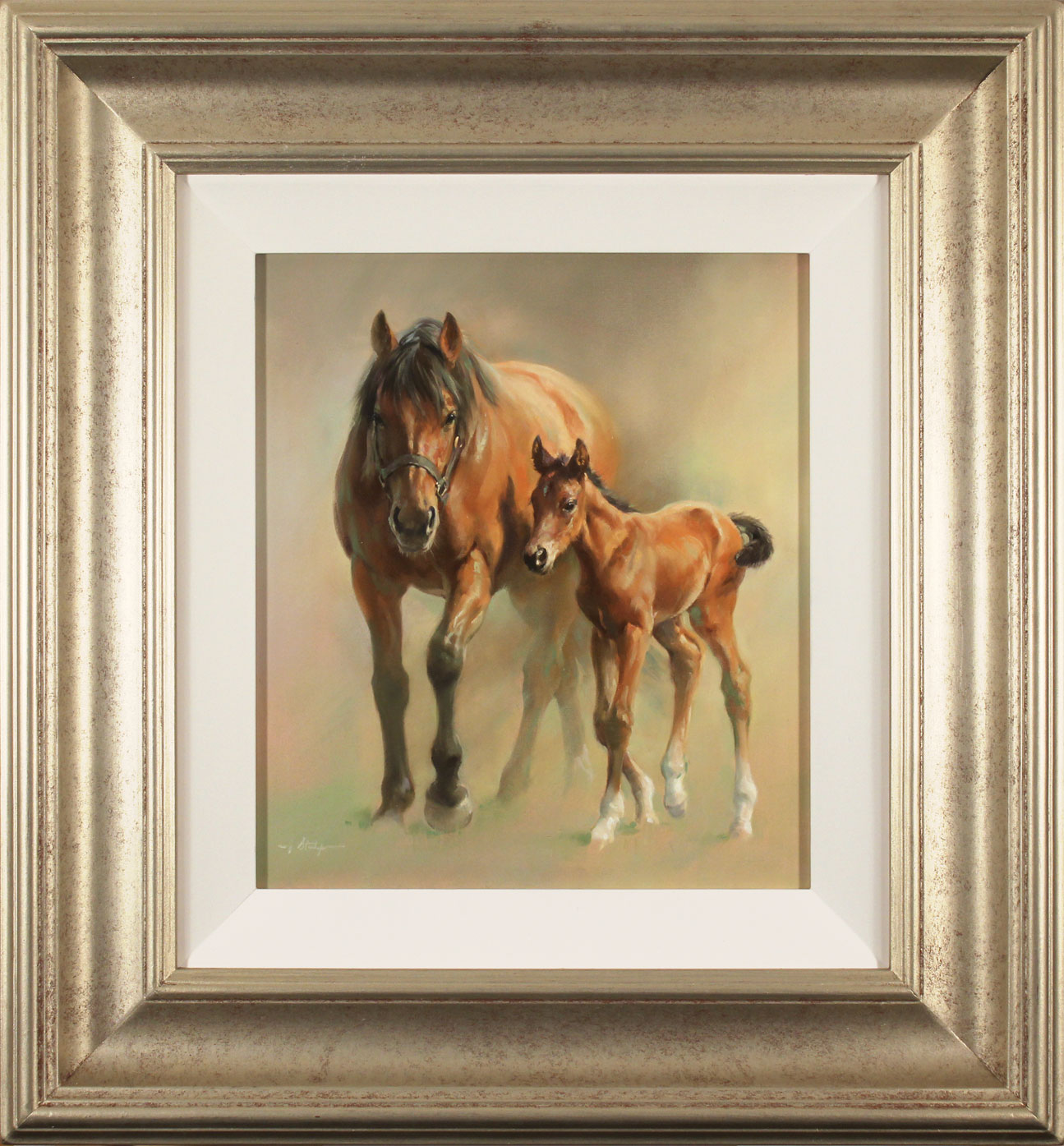 Jacqueline Stanhope, Original oil painting on canvas, An Unbreakable Bond, click to enlarge