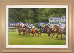Jacqueline Stanhope, Original oil painting on canvas, Epsom Derby Start, 2016