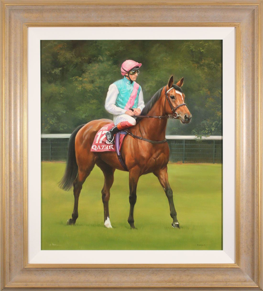 Jacqueline Stanhope, Original oil painting on canvas, Enable. Click to enlarge