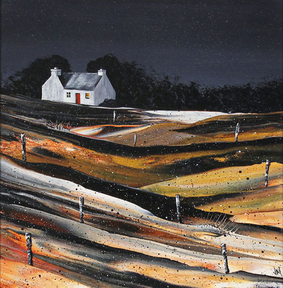 Jay Nottingham, Original oil painting on panel, Fisherman's Cottage No frame image. Click to enlarge